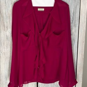 Like new By Malene Birger fuschia blouse